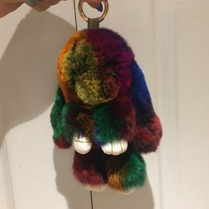Multicolour Rabbit Keycharm